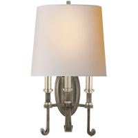 Visual Comfort TOB2137SN/AN-NP Thomas O'Brien Calliope 3 Light 11 inch Sheffield Nickel with Antique Nickel Decorative Wall Light