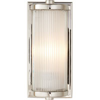 Visual Comfort Thomas OBrien Dresser 1 Light Bath Wall Light in Polished Nickel TOB2140PN-FG