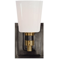 Visual Comfort TOB2152BZ/HAB-WG Thomas OBrien Bryant 1 Light Bronze and Hand-Rubbed Antique Brass Bath Sconce Wall Light