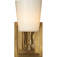 Visual Comfort Thomas OBrien Bryant 1 Light Bath Wall Light in Hand-Rubbed Antique Brass TOB2152HAB-WG