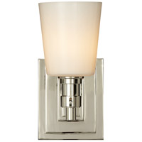 Visual Comfort Thomas OBrien Bryant 1 Light Bath Wall Light in Polished Nickel TOB2152PN-WG
