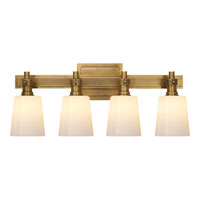 Visual Comfort Thomas OBrien Bryant 4 Light Bath Wall Light in Hand-Rubbed Antique Brass TOB2153HAB-WG