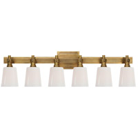 Visual Comfort TOB2154HAB-WG Thomas OBrien Bryant 6 Light 29 inch Hand-Rubbed Antique Brass Bath Wall Light