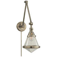 Visual Comfort TOB2156AN-SG Thomas O'Brien Gale 30 inch 60 watt Antique Nickel Task Wall Light in Seeded Glass