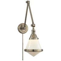 Visual Comfort TOB2156AN-WG Thomas OBrien Gale 30 inch 60 watt Antique Nickel Task Wall Light in White Glass