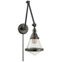 Thomas OBrien Gale 30 inch 60 watt Bronze Task Wall Light in Seeded Glass
