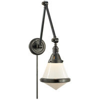 Thomas OBrien Gale 30 inch 60 watt Bronze Task Wall Light in White Glass