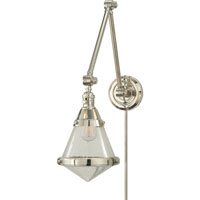 Visual Comfort TOB2156PN-SG Thomas OBrien Gale 30 inch 60 watt Polished Nickel Task Wall Light in Seeded Glass