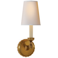Thomas OBrien Paulina 1 Light 5 inch Hand-Rubbed Antique Brass Decorative Wall Light