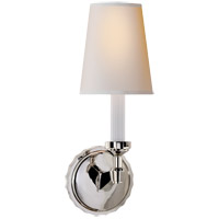 Visual Comfort Thomas OBrien Paulina 1 Light Decorative Wall Light in Polished Nickel with Natural Paper Shade TOB2170PN-NP