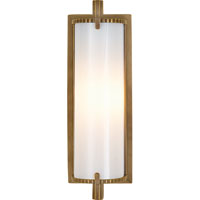 Visual Comfort Thomas OBrien Calliope 1 Light Bath Wall Light in Hand-Rubbed Antique Brass TOB2184HAB-WG