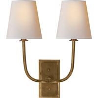 Visual Comfort TOB2191HAB-NP Thomas OBrien Hulton 2 Light 14 inch Hand-Rubbed Antique Brass Decorative Wall Light