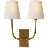 Thomas Obrien Hulton 2 Light 14 inch Hand-Rubbed Antique Brass Decorative Wall Light