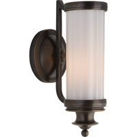 Visual Comfort Thomas OBrien Milton Road 1 Light Bath Wall Light in Bronze with Wax TOB2197BZ-WG