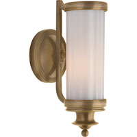 Visual Comfort Thomas OBrien Milton Road 1 Light Bath Wall Light in Hand-Rubbed Antique Brass TOB2197HAB-WG