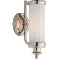 Visual Comfort Thomas OBrien Milton Road 1 Light Bath Wall Light in Polished Nickel TOB2197PN-WG