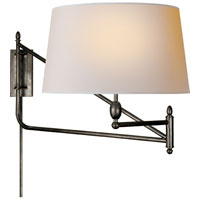 Visual Comfort Thomas OBrien Paulo 1 Light Swing-Arm Wall Light in Bronze with Wax TOB2201BZ-NP