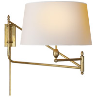 Thomas Obrien Paulo 51 inch 100 watt Hand-Rubbed Antique Brass Swing-Arm Wall Light
