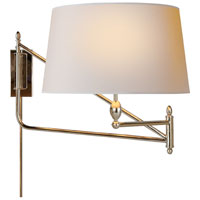 Visual Comfort Thomas OBrien Paulo 1 Light Swing-Arm Wall Light in Polished Nickel TOB2201PN-NP