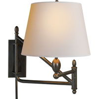 Visual Comfort Thomas OBrien Paulo 1 Light Swing-Arm Wall Light in Bronze with Wax TOB2203BZ-NP