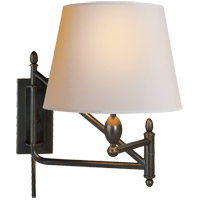 Thomas Obrien Paulo 26 inch 100 watt Bronze Swing-Arm Wall Light