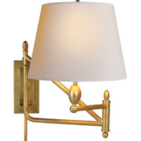 Visual Comfort Thomas OBrien Paulo 1 Light Swing-Arm Wall Light in Hand-Rubbed Antique Brass TOB2203HAB-NP