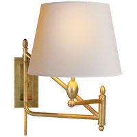 Thomas Obrien Paulo 26 inch 100 watt Hand-Rubbed Antique Brass Swing-Arm Wall Light