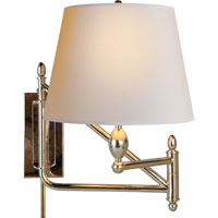 Visual Comfort Thomas OBrien Paulo 1 Light Swing-Arm Wall Light in Polished Nickel TOB2203PN-NP