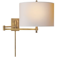 Visual Comfort Thomas OBrien Hudson 1 Light Swing-Arm Wall Light in Hand-Rubbed Antique Brass TOB2204HAB-NP