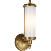 Visual Comfort Thomas OBrien Merchant 1 Light Bath Wall Light in Hand-Rubbed Antique Brass TOB2206HAB-WG
