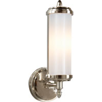Visual Comfort Thomas OBrien Merchant 1 Light Bath Wall Light in Polished Nickel TOB2206PN-WG