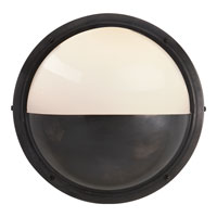 Visual Comfort Thomas OBrien Pelham Moon 1 Light Bath Wall Light in Bronze with Wax TOB2208BZ-WG