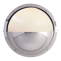Visual Comfort Thomas OBrien Pelham Moon 1 Light Bath Wall Light in Chrome TOB2208CH-WG