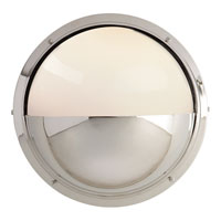 Visual Comfort Thomas OBrien Pelham Moon 1 Light Bath Wall Light in Polished Nickel TOB2208PN-WG