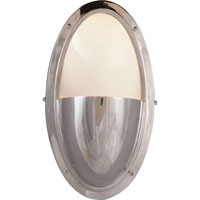 Visual Comfort Thomas OBrien Pelham Moon 1 Light Bath Wall Light in Polished Nickel TOB2209PN-WG