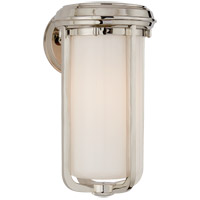 Visual Comfort Thomas OBrien Milton 1 Light Bath Wall Light in Polished Nickel with White Glass Shade TOB2211PN-WG