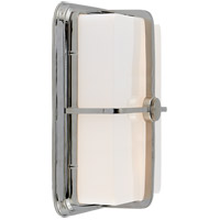 Visual Comfort Thomas OBrien Milton 1 Light Bath Wall Light in Polished Nickel with White Glass Shade TOB2212PN-WG