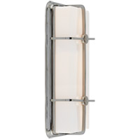 Visual Comfort Thomas OBrien Milton 2 Light Bath Wall Light in Polished Nickel with White Glass Shade TOB2213PN-WG