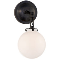 Visual Comfort TOB2225BZ/G4-WG Thomas OBrien Katie 1 Light 8 inch Bronze Decorative Wall Light in White Glass