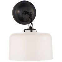 Visual Comfort TOB2225BZ/G5-WG Thomas OBrien Katie 1 Light 10 inch Bronze Decorative Wall Light in White Glass