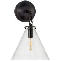 Visual Comfort TOB2225BZ/G6-CG Thomas Obrien Katie 1 Light 9 inch Bronze Decorative Wall Light in Clear Glass