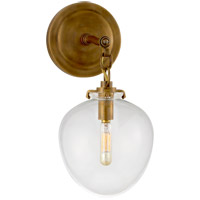 Visual Comfort TOB2225HAB/G2-CG Thomas O'Brien Katie 1 Light 7 inch Hand-Rubbed Antique Brass Decorative Wall Light in Clear Glass