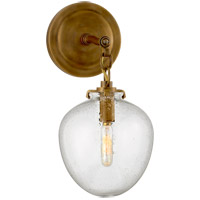 Visual Comfort TOB2225HAB/G2-SG Thomas O'Brien Katie 1 Light 7 inch Hand-Rubbed Antique Brass Decorative Wall Light in Seeded Glass