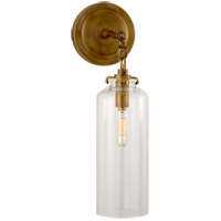 Visual Comfort TOB2225HAB/G3-CG Thomas O'Brien Katie 1 Light 5 inch Hand-Rubbed Antique Brass Decorative Wall Light in Clear Glass