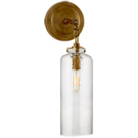 Visual Comfort TOB2225HAB/G3-SG Thomas OBrien Katie 1 Light 5 inch Hand-Rubbed Antique Brass Decorative Wall Light in Seeded Glass