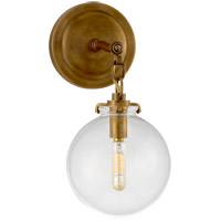 Visual Comfort TOB2225HAB/G4-CG Thomas Obrien Katie 1 Light 8 inch Hand-Rubbed Antique Brass Decorative Wall Light in Clear Glass