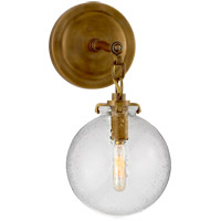 Thomas OBrien Katie 1 Light 8 inch Hand-Rubbed Antique Brass Decorative Wall Light in Seeded Glass