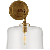 Visual Comfort TOB2225HAB/G5-CG Thomas OBrien Katie 1 Light 10 inch Hand-Rubbed Antique Brass Decorative Wall Light in Clear Glass
