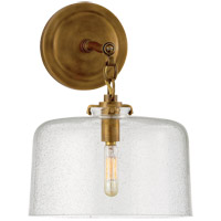 Visual Comfort TOB2225HAB/G5-SG Thomas OBrien Katie 1 Light 10 inch Hand-Rubbed Antique Brass Decorative Wall Light in Seeded Glass