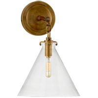 Visual Comfort Thomas OBrien Katie 1 Light 9 inch Hand-Rubbed Antique Brass Decorative Wall Light in Clear Glass TOB2225HAB/G6-CG - Open Box